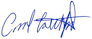 Carol Latchford signature