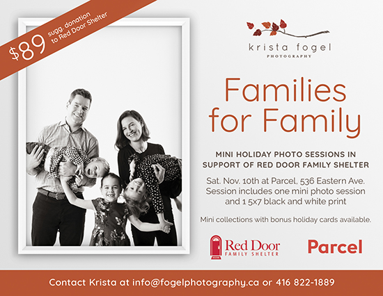 Families for family holiday portraits November 10th