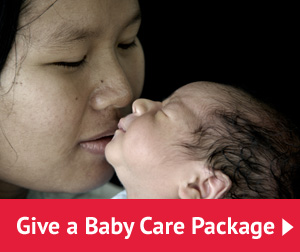 give a baby care package