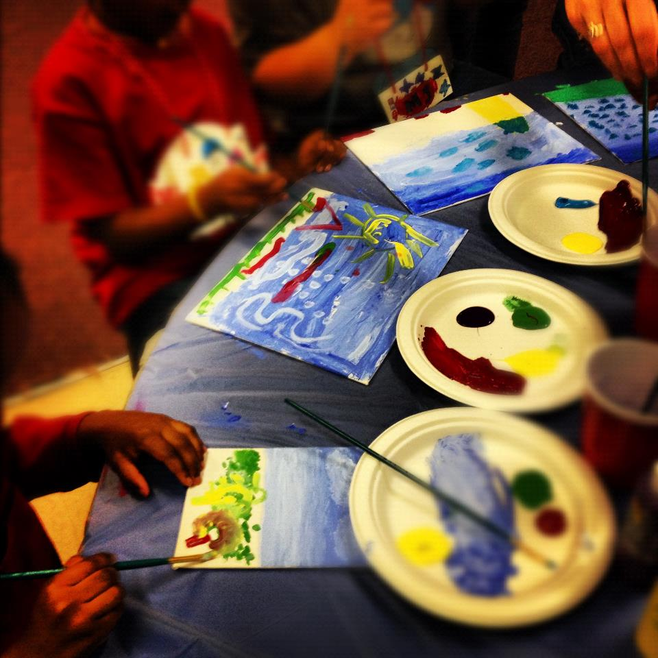 Children drawing Pictures.