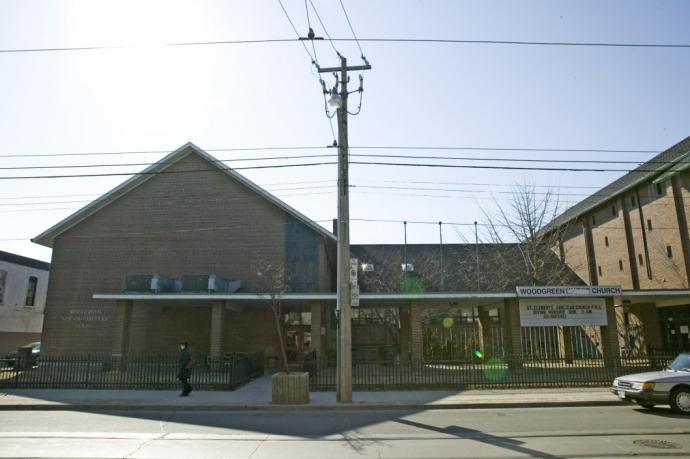 Exterior of original family shelter building