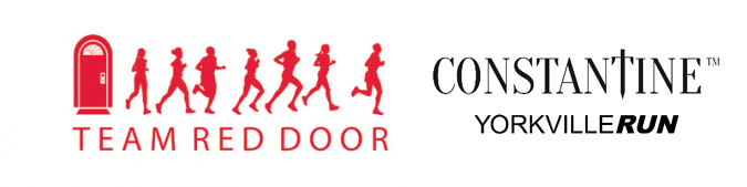 Red Door and Constantine Yorkville Run logos side by side